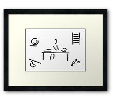 massage physiotherapist Framed Print