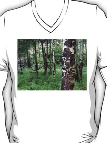 Misty Aspen Woods in a Quiet Colorado Forest T-Shirt