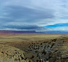 Vermilion Cliffs - Panorama by Stephen Beattie