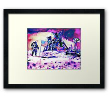 ON THE MOON Framed Print
