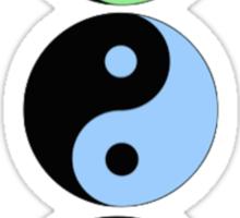 Triple Yin Yang Sticker