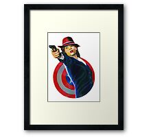 PEGGY CARTER Framed Print