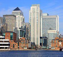 Millwall Docks - Canary Wharf  by Dave Law