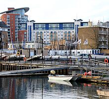 Jetty at Millwall Docks by Dave Law