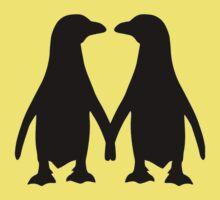 Penguin couple love Kids Clothes