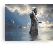 She Talks To Angels Canvas Print