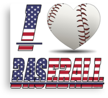 I love baseball Canvas Print