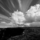 A great sky day (mono) by Mark  Allen