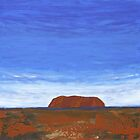 THE DISTANT ROCK (ULURU, CENTRAL AUSTRALIA) by Rose Langford