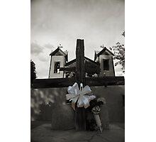 Kneeling at the Cross, Santuario de Chimayo Photographic Print