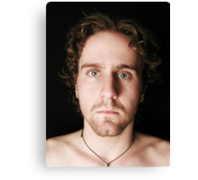 My curly hair, and a voting booth Canvas Print
