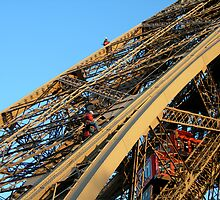 Working on the Eiffel Tower by ITCowboy