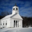 The Congregational Church at the Old Winchendon Center  Orton by Rebecca Bryson