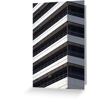 IBM office building detail Greeting Card