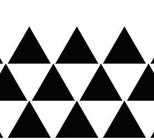 Black White Triangle Geometric by oldesk