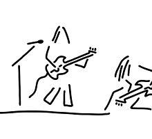 rock musician guitar headbanger by lineamentum