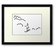 snowboarder skiing winter sports Framed Print
