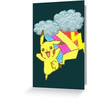 Pikachu Sky Greeting Card