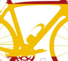 Bike Flag Spain (Big) Sticker