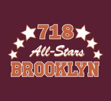 718 BROOKLYN ALLSTARS*ORANGE/WHITE by 4playbk