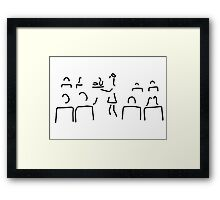 stewardess flight attendant conductor guard Framed Print
