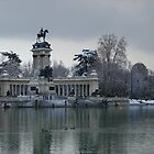 Snow in the Retiro Park - Madrid by Francisca Westerterp-Muñoz