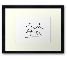 dance Latin standard dancer Framed Print