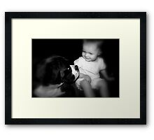 Friends for ever!  -Boxer Dogs Series- Framed Print