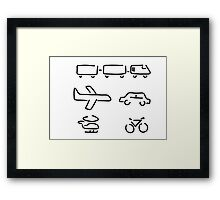 turn mobility travel Framed Print