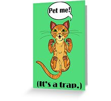 Trap Cat (Orange Tabby Cat) Greeting Card