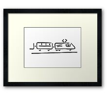train driver locomotive driver Framed Print