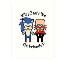 Sonic & Dr.Robotnik Art Print