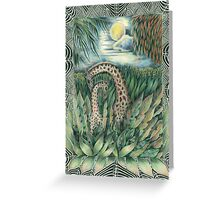 Forest Giraffes Greeting Card