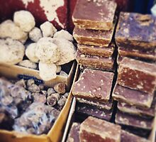 Traditional handmade Mexican chocolate in Oaxaca  by kayfont