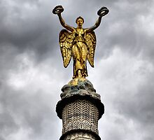 Paris - Victory Column at the Chatelet Square  by jean-louis bouzou