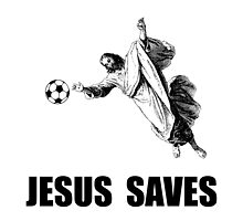 Jesus Saves Soccer by TheBestStore
