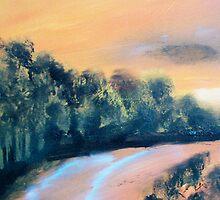 Sun Drinched Coast by Jose  DeLaRosa