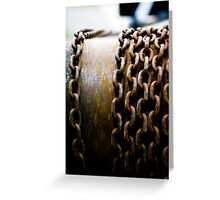 Chained In Greeting Card