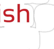Dead Fish white/red Sticker