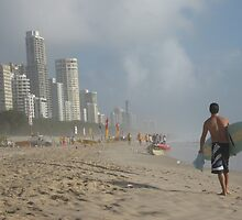 Going Surfing, Gold Coast, Qld. Australia by Marilyn Baldey