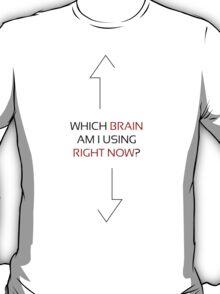 Which Brain white red T-Shirt