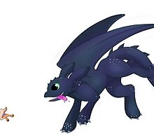 Toothless and the Bunny by SamanthaSawyer