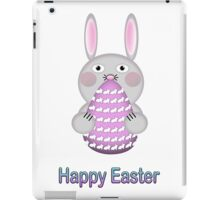 Happy Easter Bunny Rabbit with Easter Egg iPad Case/Skin