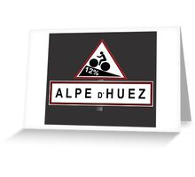 Alpe d'Huez Sign Mountain Cycling Tour de France Greeting Card