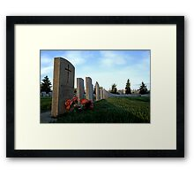 Twilight For Fallen Soldiers Framed Print
