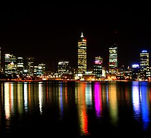 Perth, Western Australia, at night by Stephen Knowles