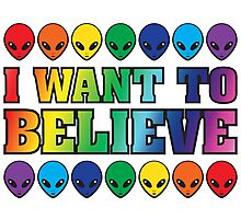 Rainbow I Want to Believe Photographic Print