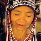 Bead seller, Chiang Mai Thailand by Louise Fahy