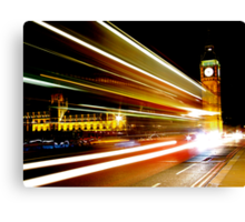 BIG BEN NIGHT BUS Canvas Print