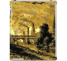 Industrial Revolution - Rotherham Station, Yorkshire,  in 1840 iPad Case/Skin